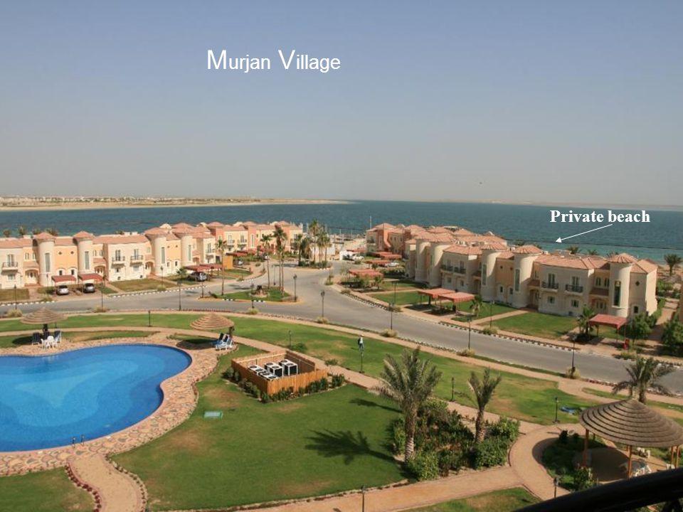 Murjan Village Private beach