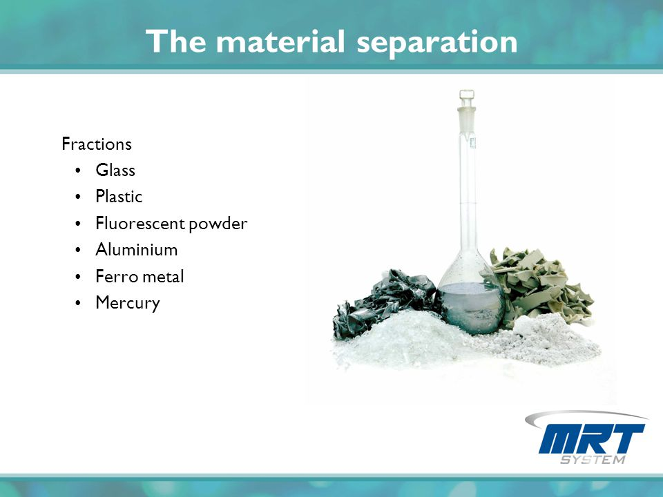 The material separation
