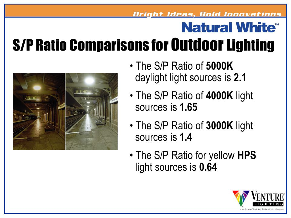 S/P Ratio Comparisons for Outdoor Lighting