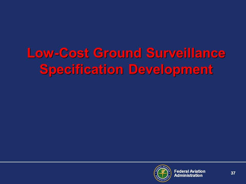 Low-Cost Ground Surveillance Specification Development