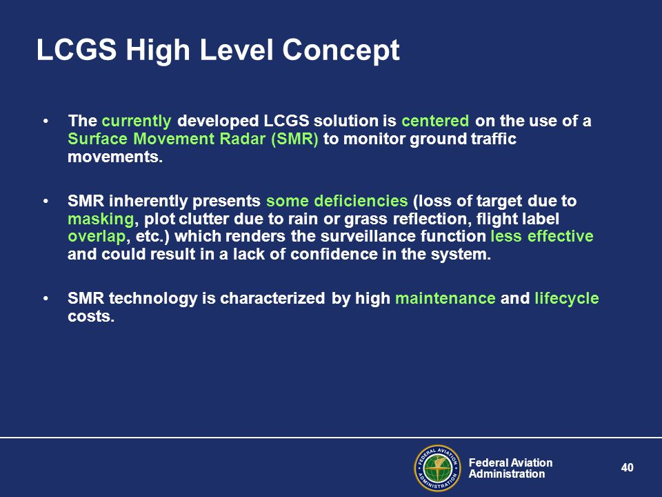 LCGS High Level Concept