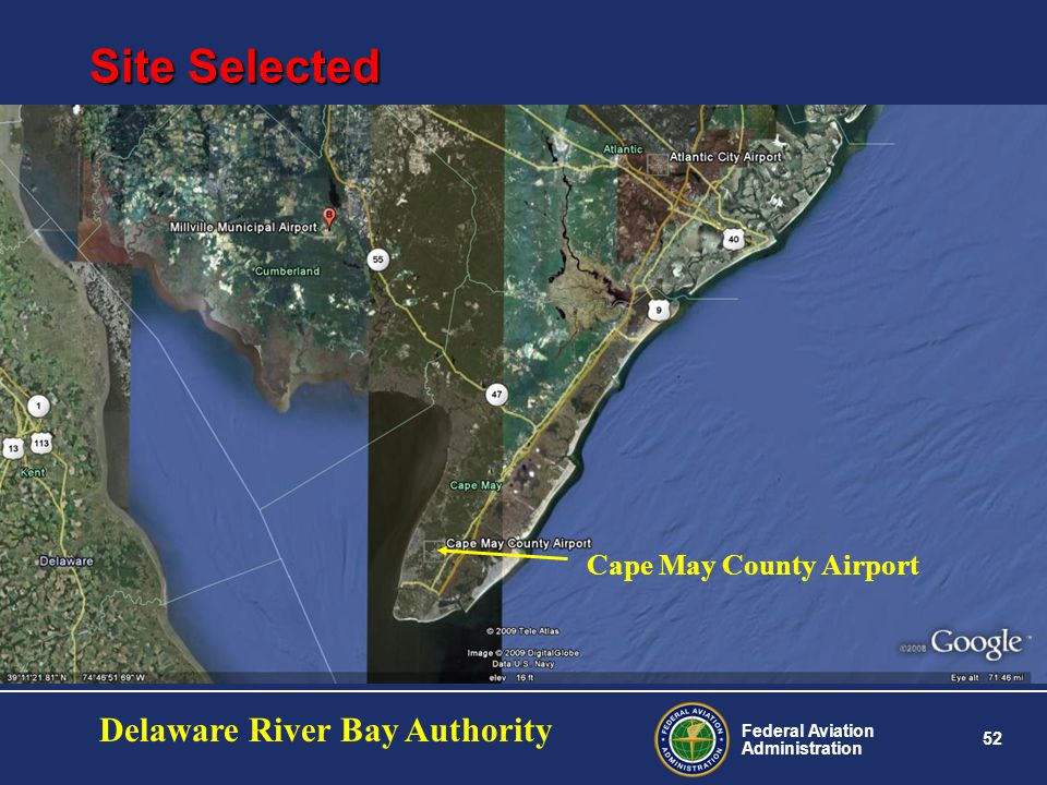 Site Selected Delaware River Bay Authority Cape May County Airport
