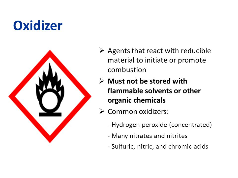 Oxidizer - Hydrogen peroxide (concentrated)