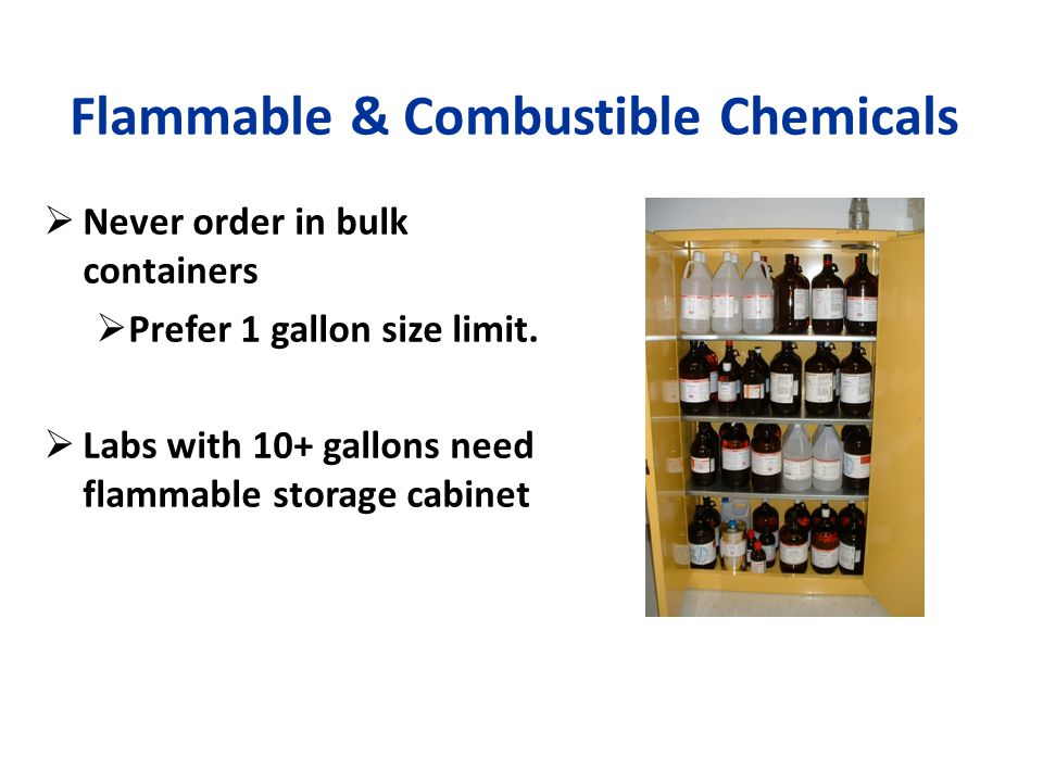 Flammable & Combustible Chemicals