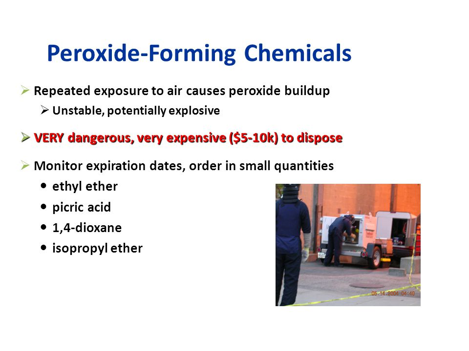 Peroxide-Forming Chemicals