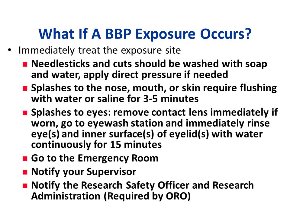 What If A BBP Exposure Occurs