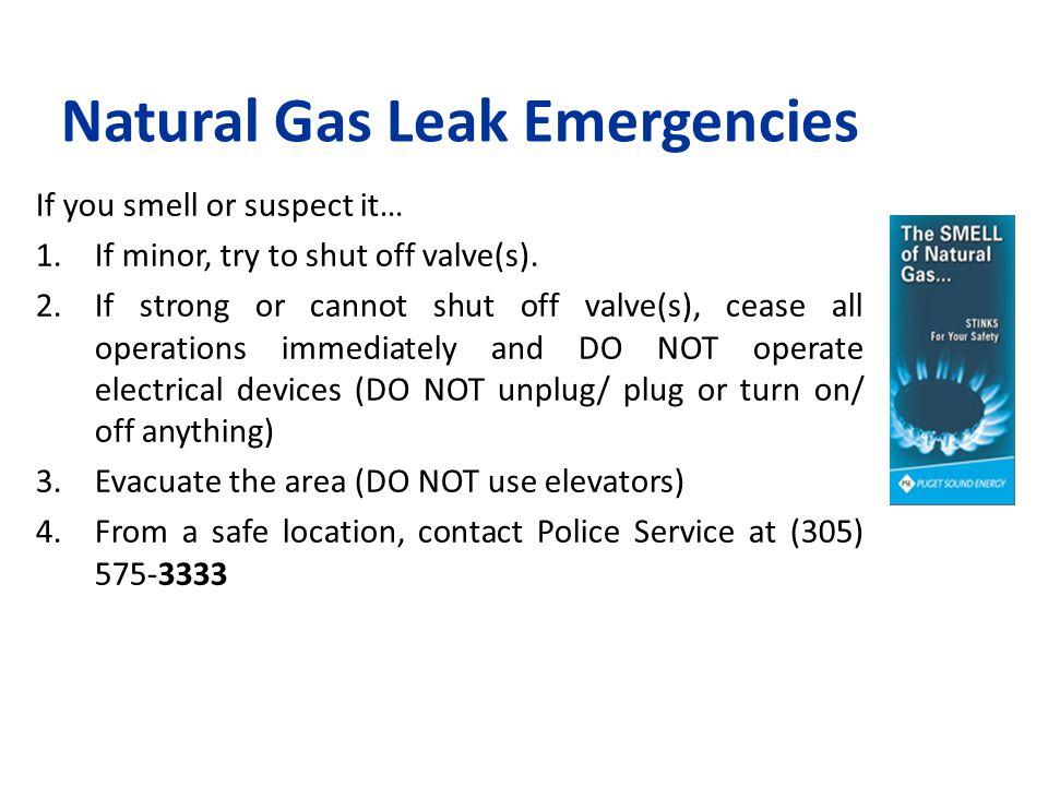 Natural Gas Leak Emergencies