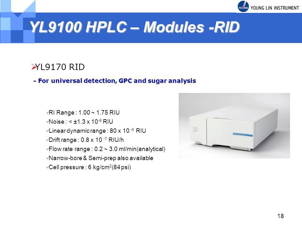 YL9100 HPLC – Modules -RID YL9170 RID