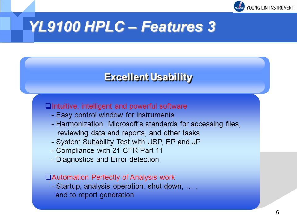 YL9100 HPLC – Features 3 Excellent Usability