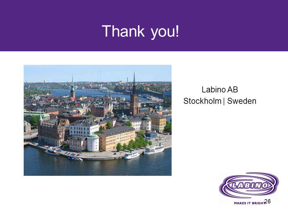 Thank you! Labino AB Stockholm | Sweden