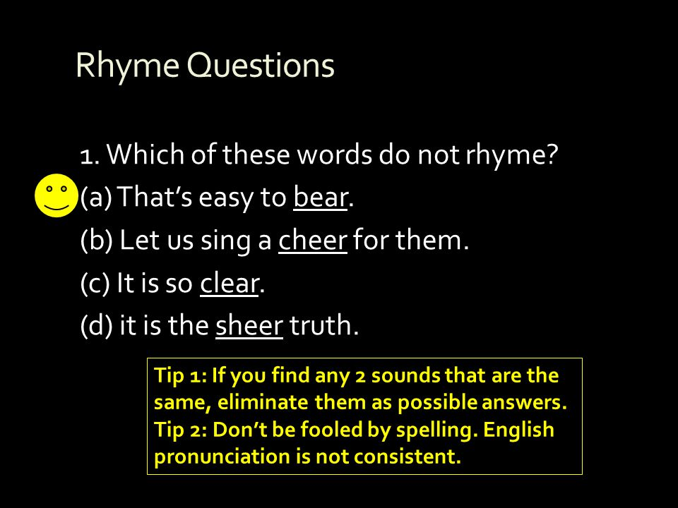 Rhyme Questions