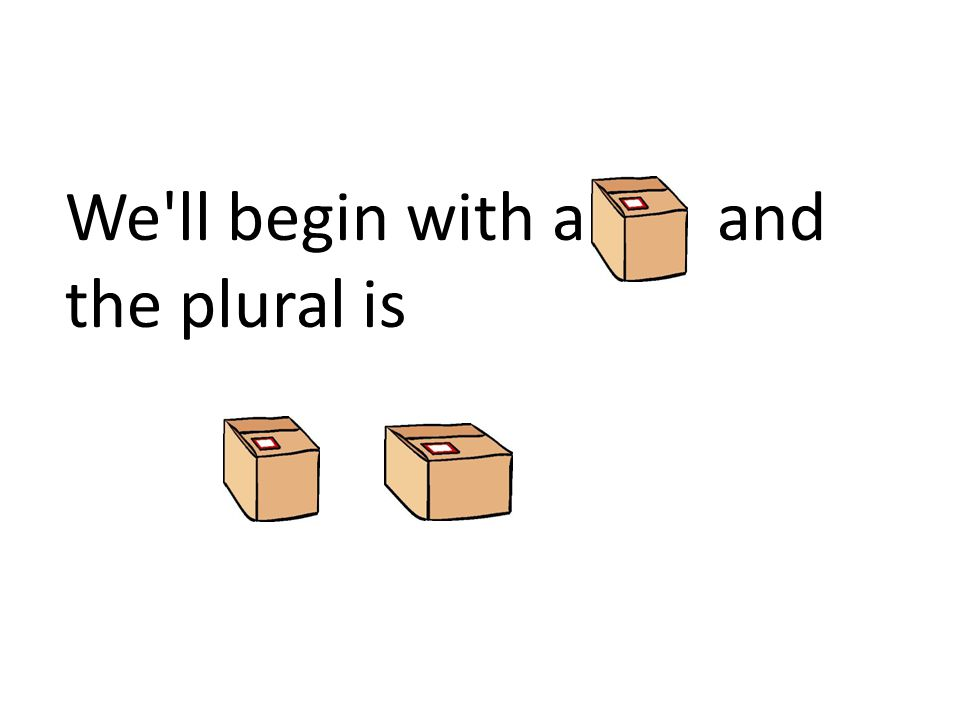 We ll begin with a and the plural is