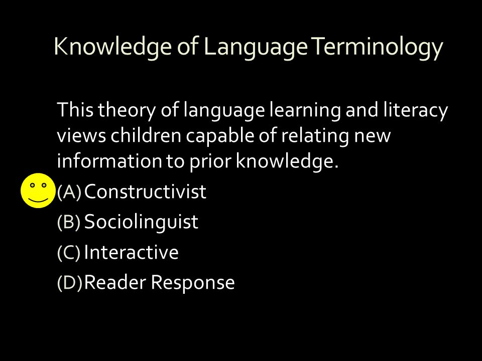 Knowledge of Language Terminology
