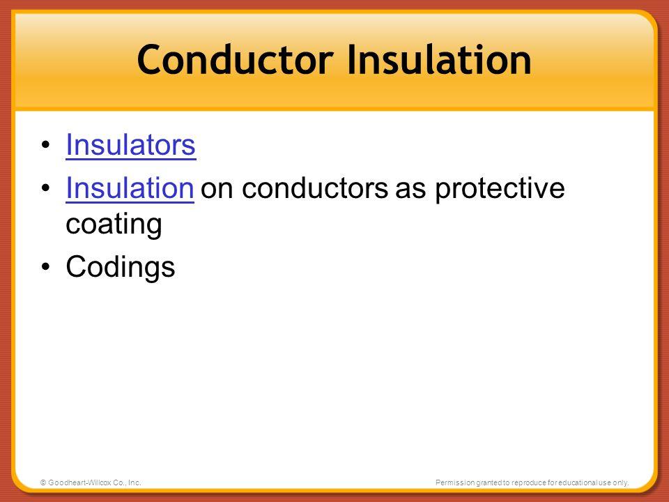 Conductor Insulation Insulators