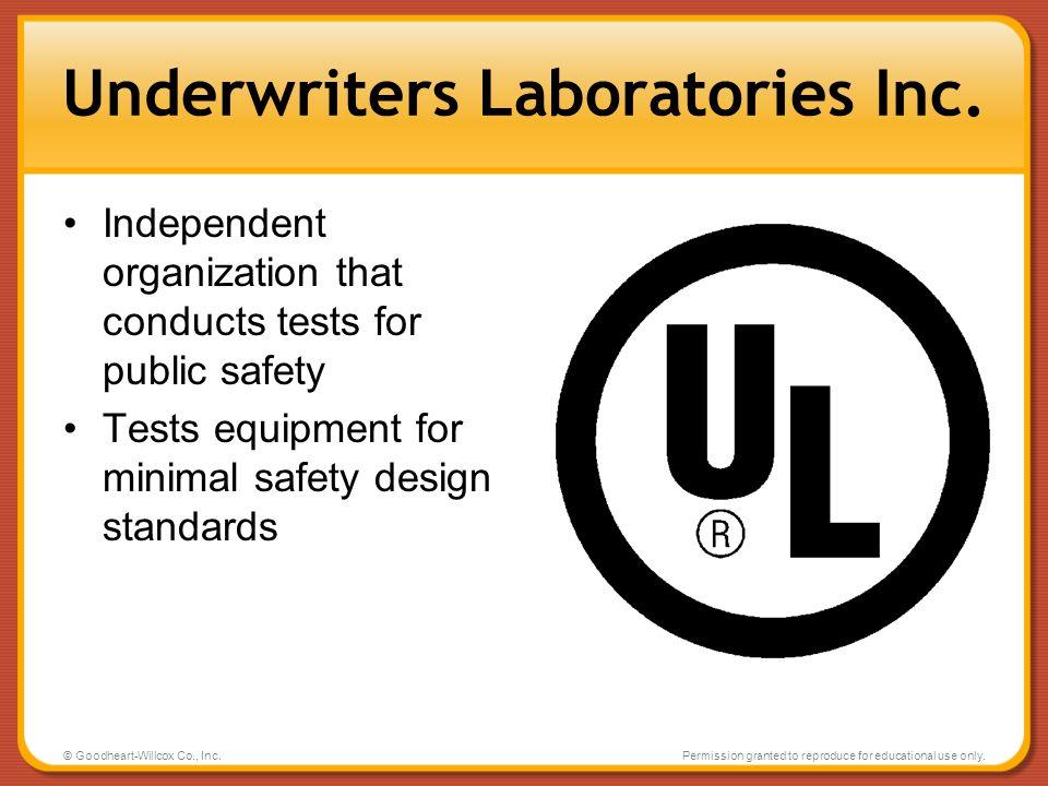 Underwriters Laboratories Inc.