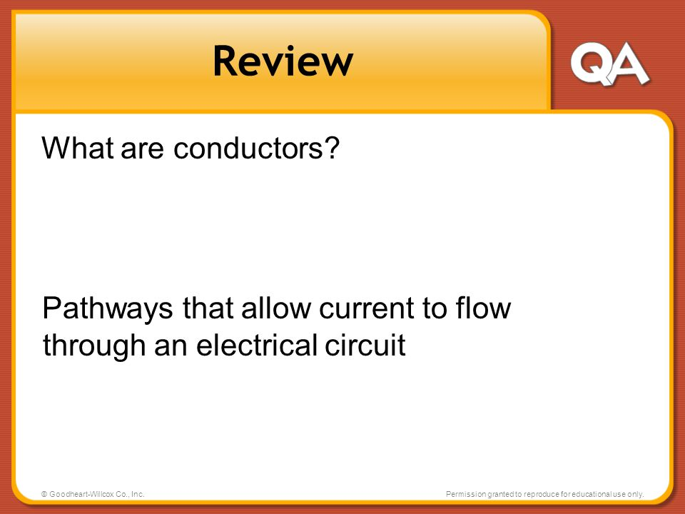 Review What are conductors