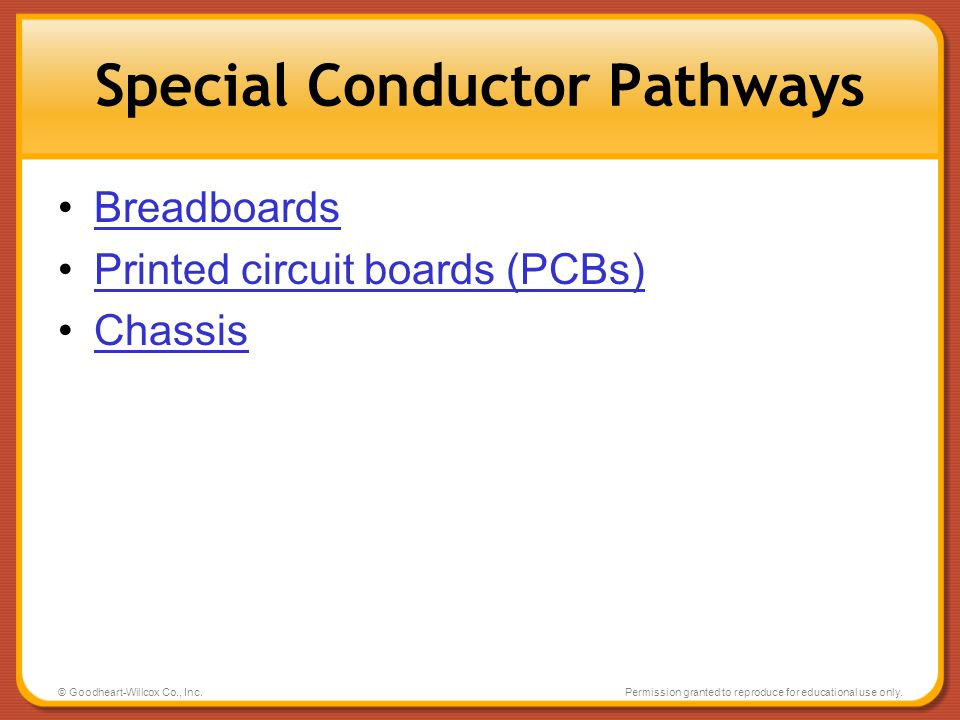 Special Conductor Pathways