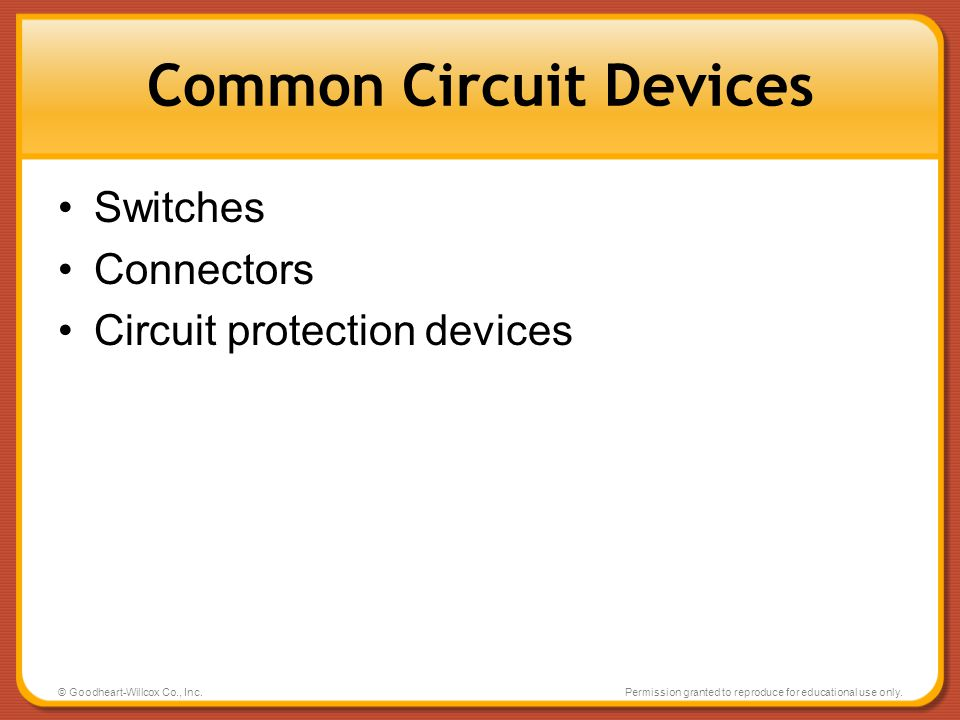 Common Circuit Devices