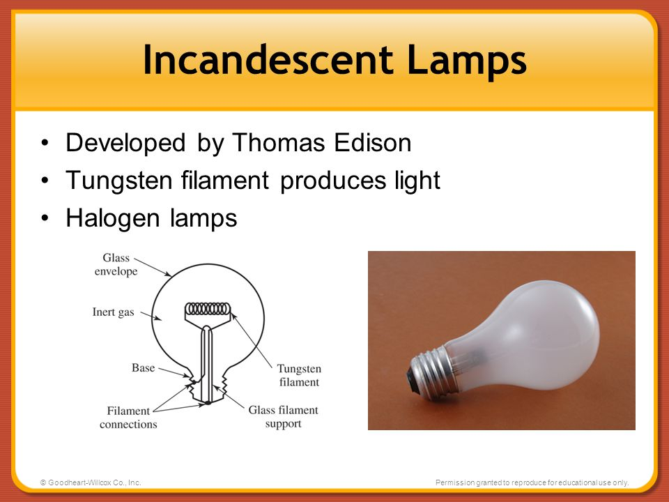 Incandescent Lamps Developed by Thomas Edison