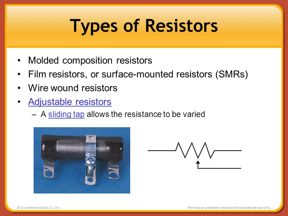 Types of Resistors Molded composition resistors