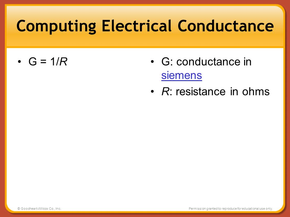 Computing Electrical Conductance