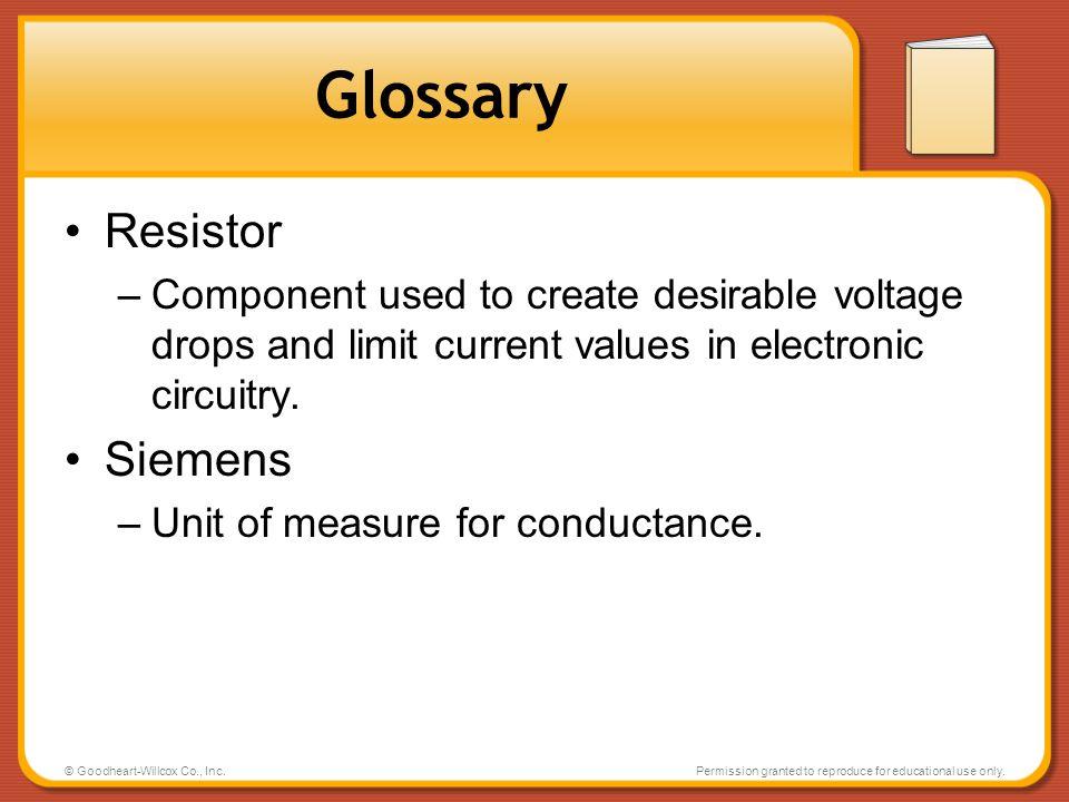 Glossary Resistor Siemens