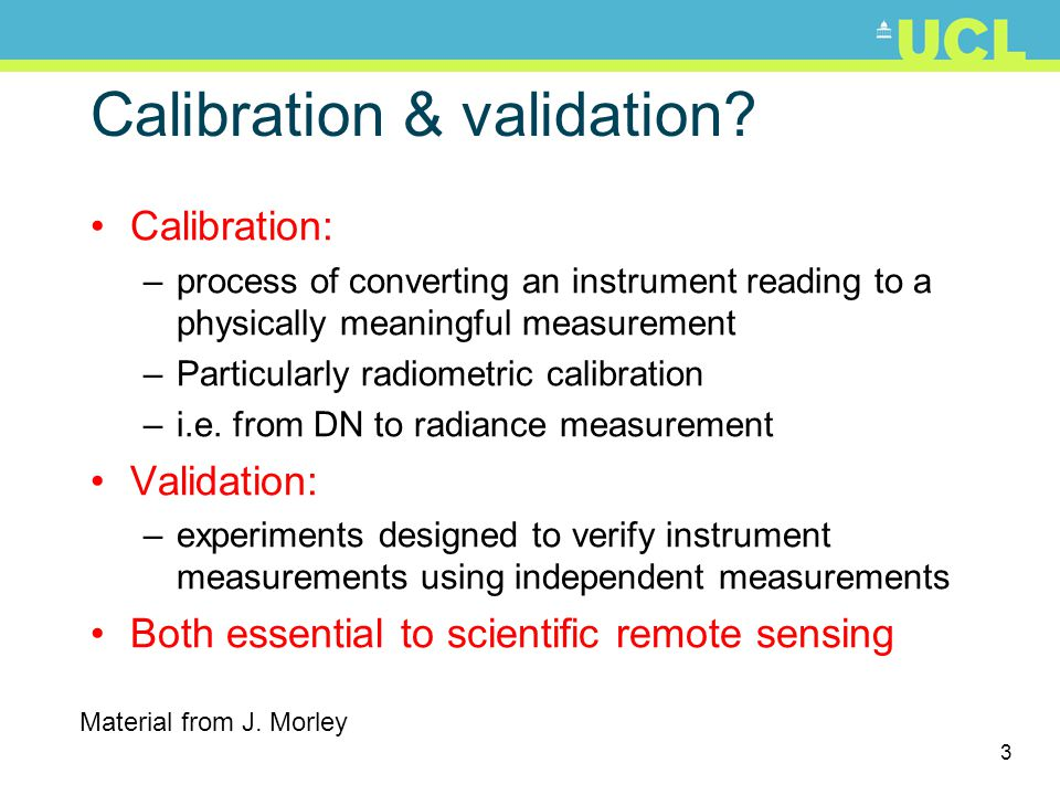 Calibration & validation