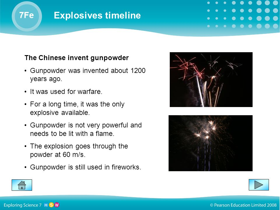 The Chinese invent gunpowder