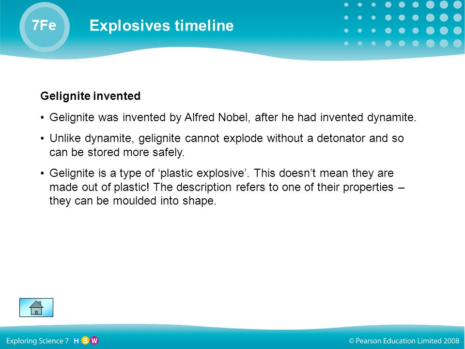 Gelignite invented Gelignite was invented by Alfred Nobel, after he had invented dynamite.