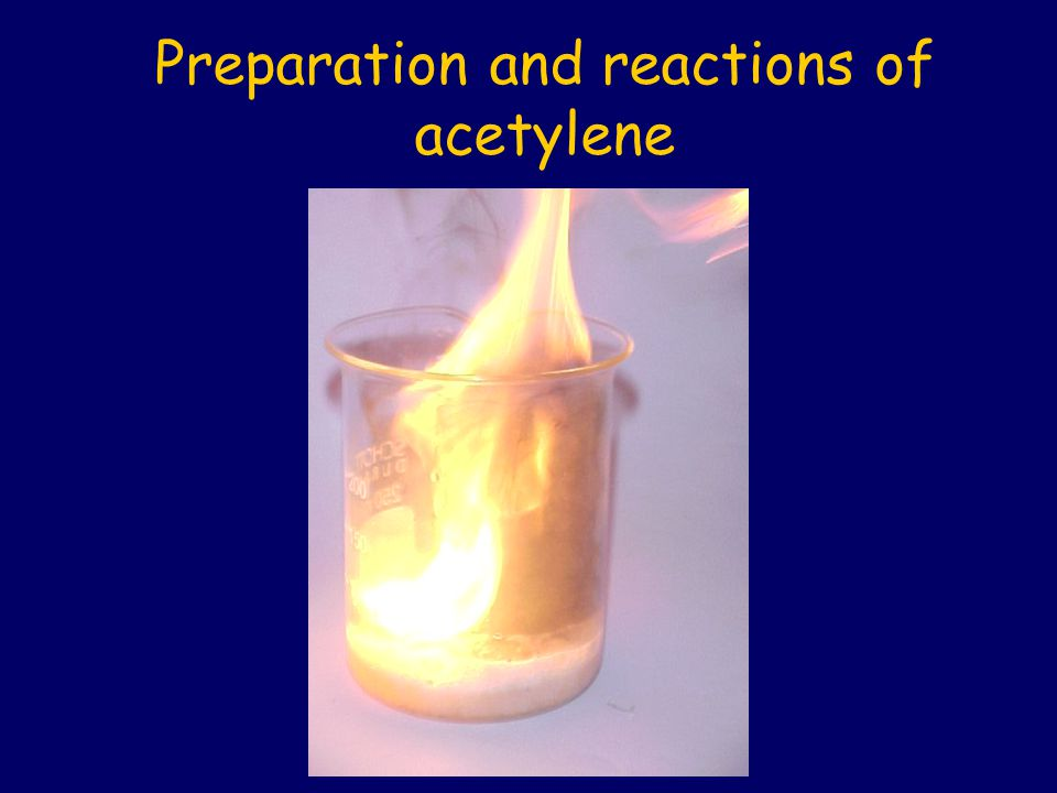 Preparation and reactions of acetylene