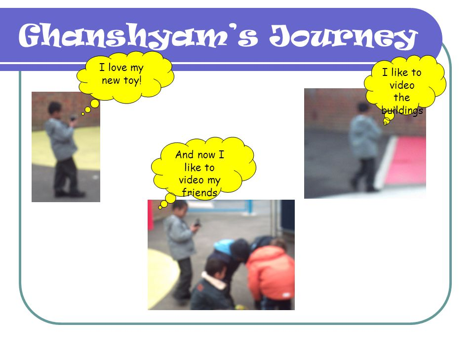 Ghanshyam's Journey I love my new toy! I like to video the buildings