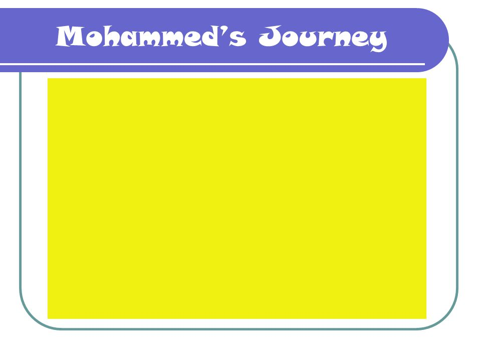 Mohammed's Journey This is Mohammed's journey through film.