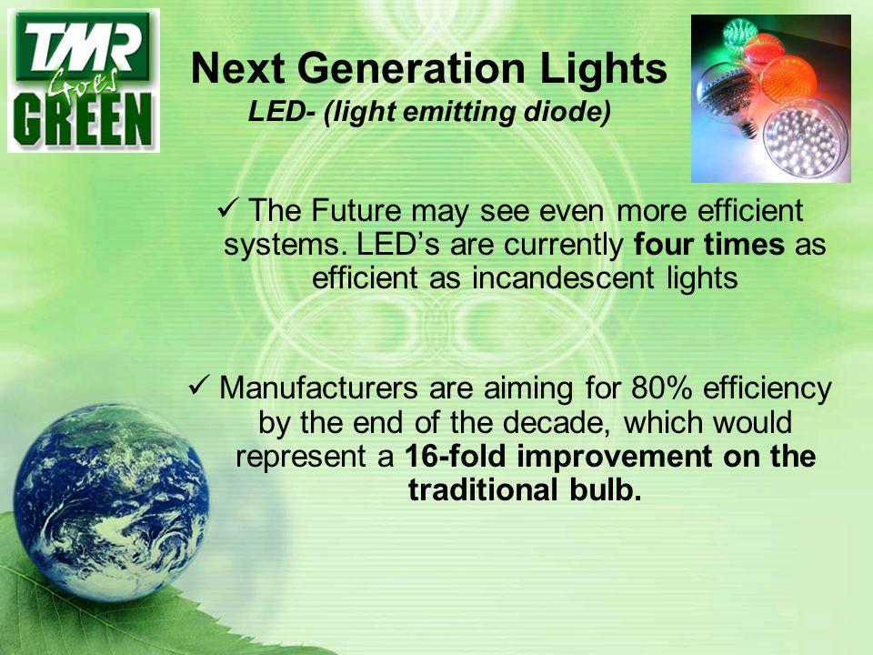 Next Generation Lights LED- (light emitting diode)