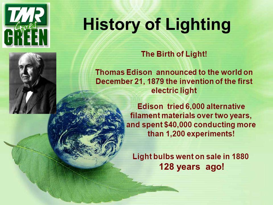 Light bulbs went on sale in 1880