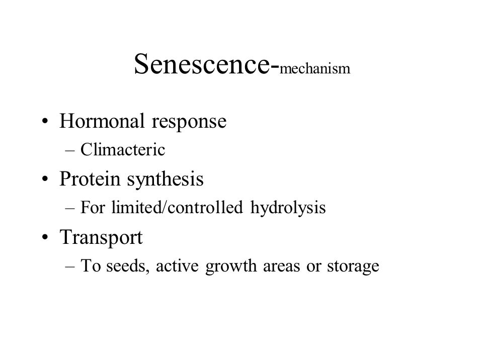 Senescence-mechanism