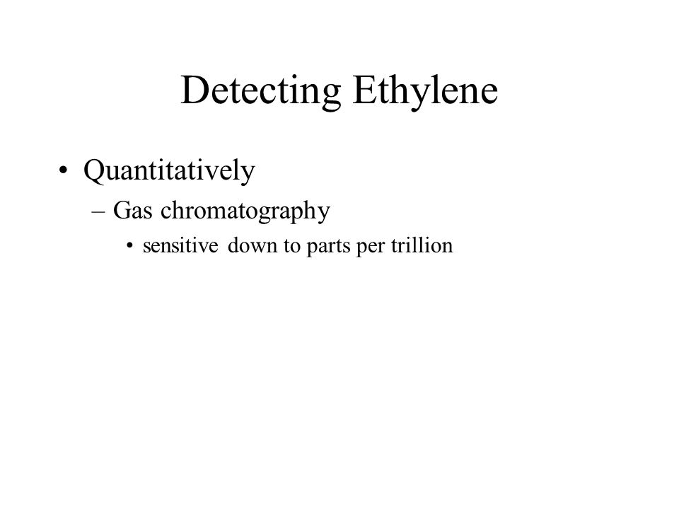 Detecting Ethylene Quantitatively Gas chromatography