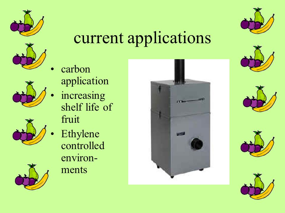 current applications carbon application increasing shelf life of fruit