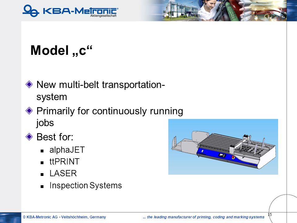 "Model ""c New multi-belt transportation-system"