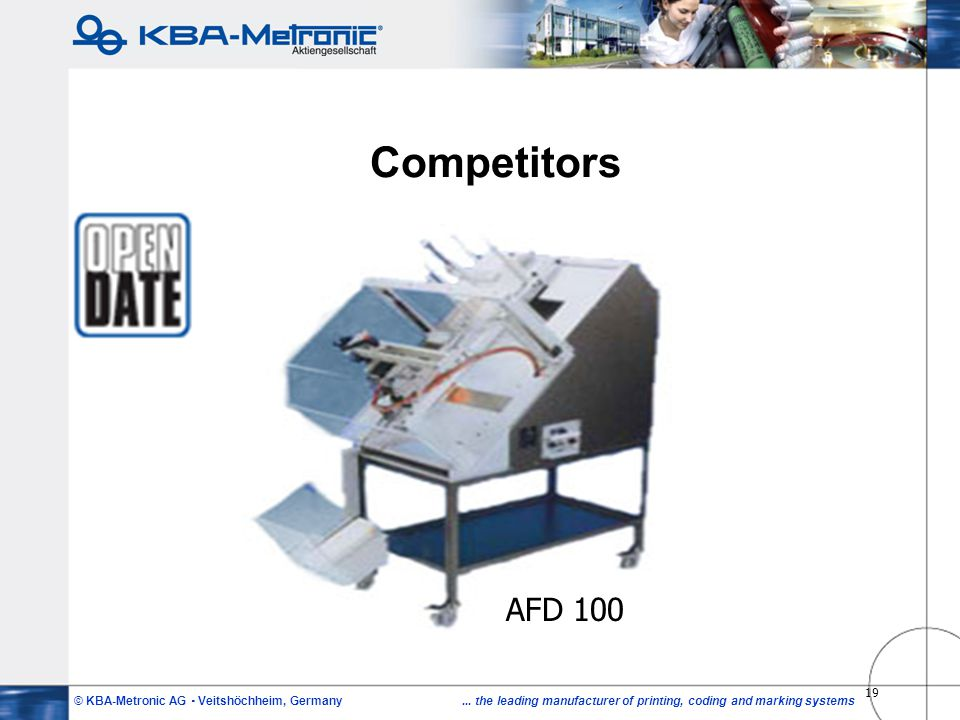 Competitors AFD 100