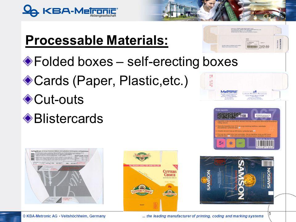 Processable Materials: