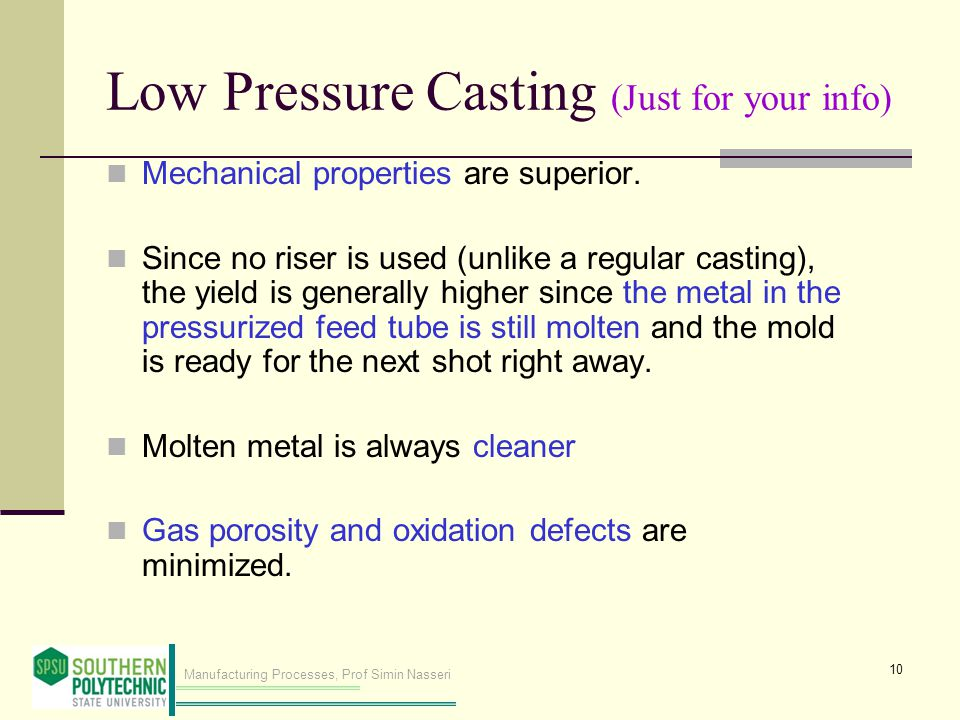 Low Pressure Casting (Just for your info)