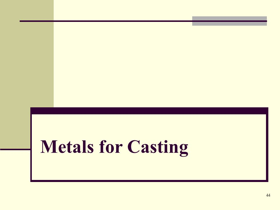 Metals for Casting