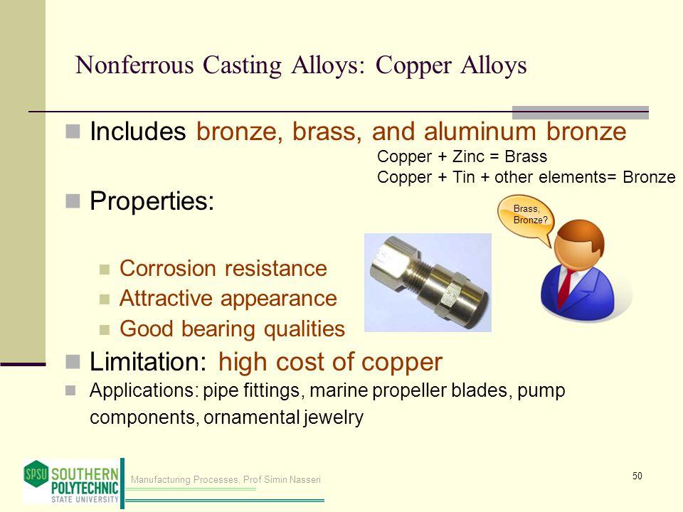 Nonferrous Casting Alloys: Copper Alloys