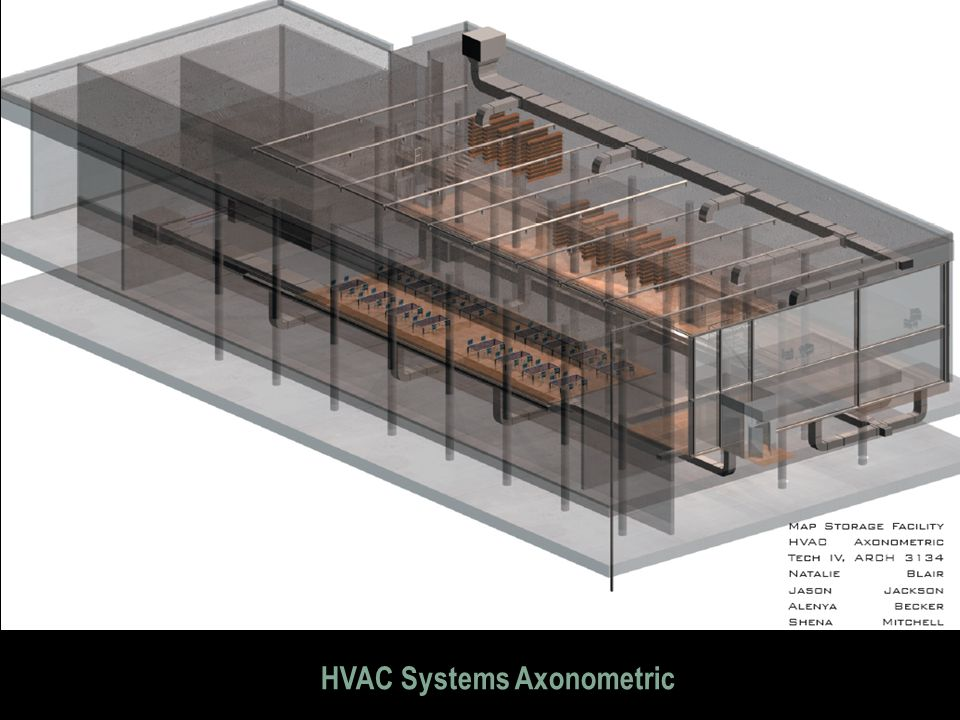 HVAC Systems Axonometric