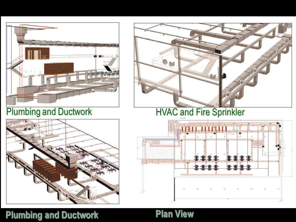 Plumbing and Ductwork HVAC and Fire Sprinkler Plumbing and Ductwork Plan View