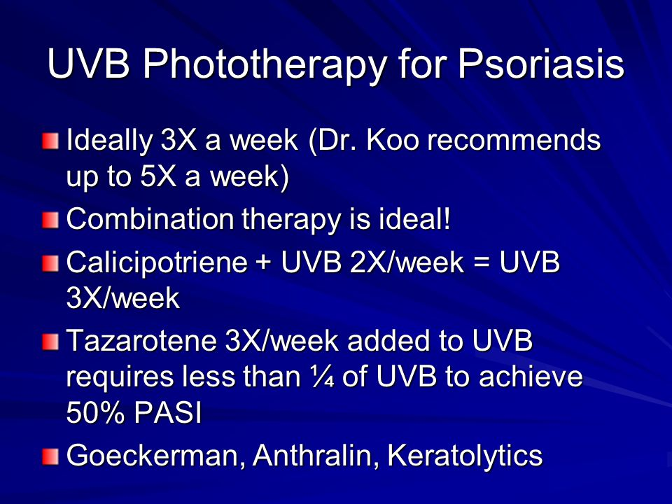 UVB Phototherapy for Psoriasis