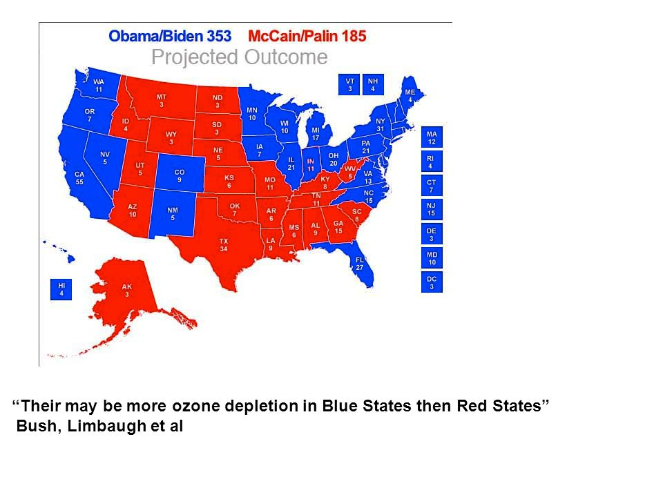 Their may be more ozone depletion in Blue States then Red States