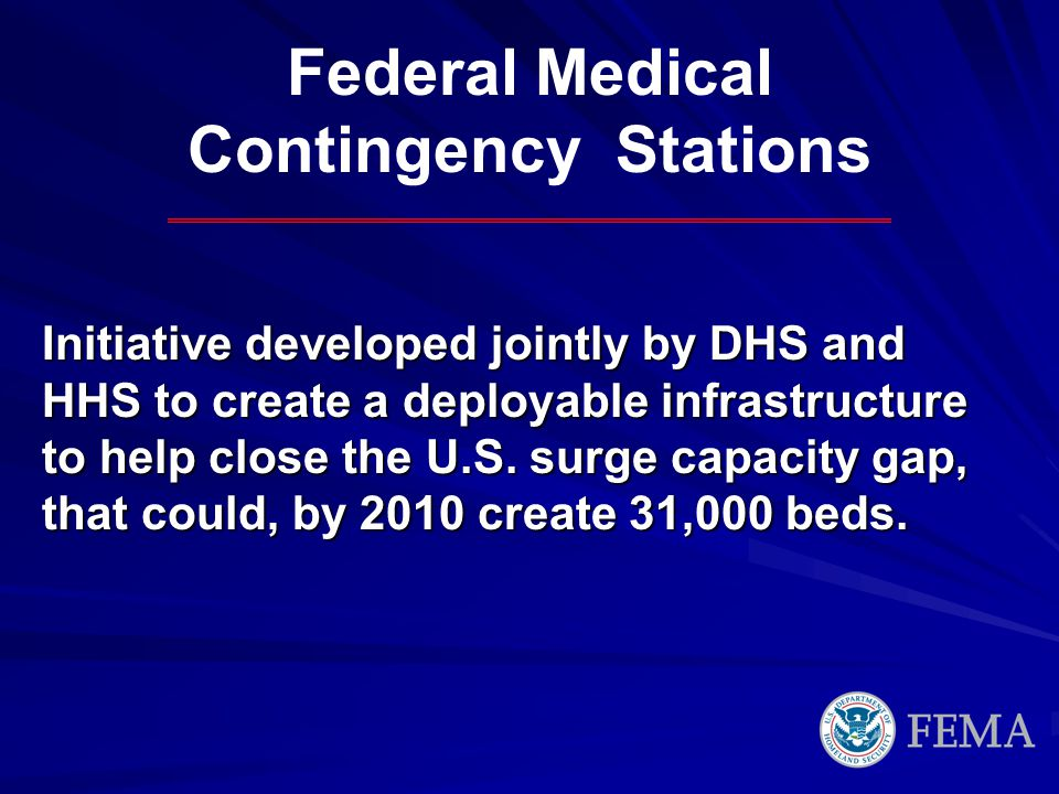 Federal Medical Contingency Stations