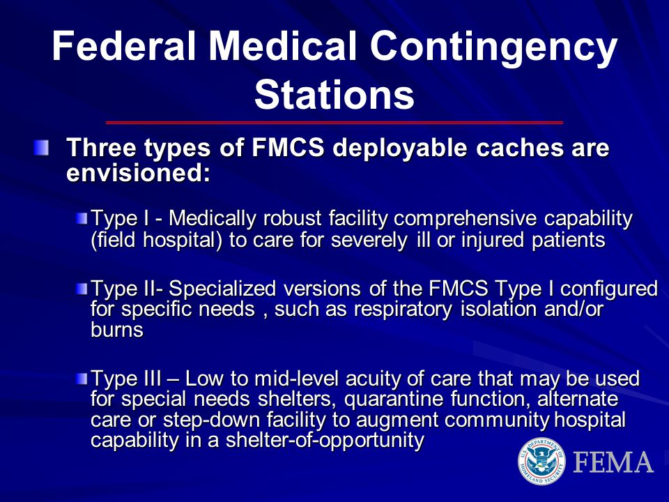 Federal Medical Contingency