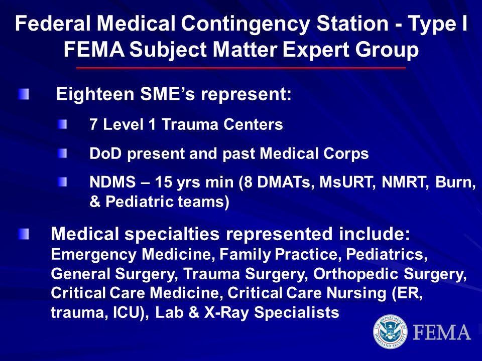 Federal Medical Contingency Station - Type I